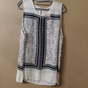 NWT- Navy and White Top